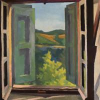 <em>Sportelloni,</em> 2021, 19x18 inches, oil on canvas