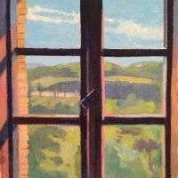 <em>Towards Monte Tezio,</em> 2015, 10x15.5 inches, oil on canvas