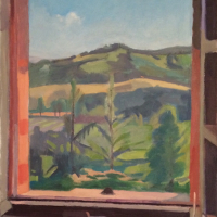 <em>View of Staccino,</em> 2015, 19x15.5 inches, oil on canvas