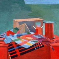 <em>Roman Still Life,</em> 1978, 16x16 inches, oil on canvas