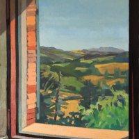 <em>Monte Tezio,</em> 2019, 20x18 inches, oil on canvas
